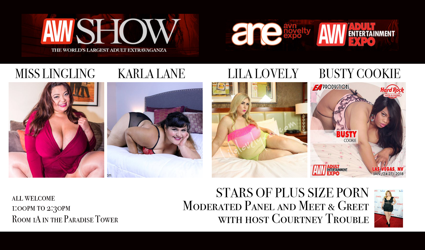 The Very First AVN Workshop Series presents the Stars of Plus Size Panel hosted by Courtney Trouble